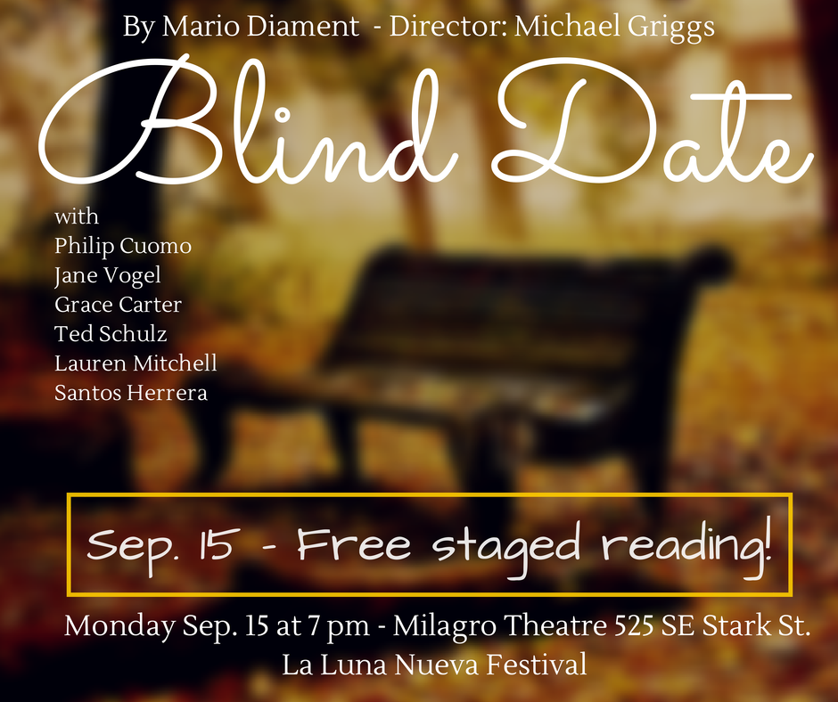 FREE Staged Readings in Englsh & Spanish! Sep. 15 -17