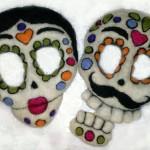 Felted Sugar Skulls in Progress