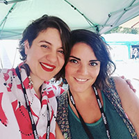 Daniela del Mar and Camila Araya Perez, Founders, Letra Chueca Press